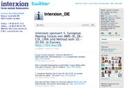 Twitter für Interxion Deutschland