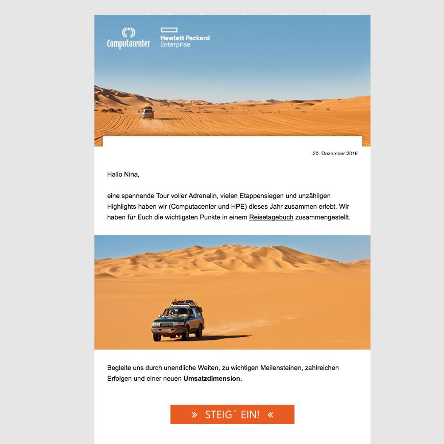 Mailing für Computacenter und Hewlett Packard Enterprise