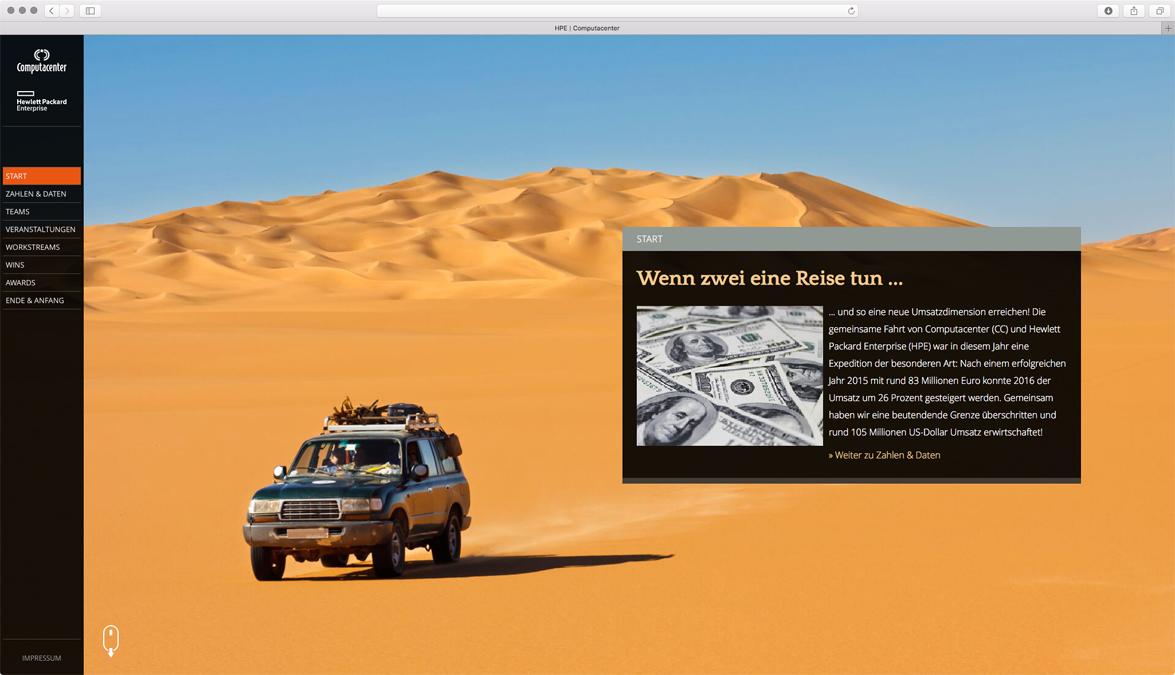 Webseite für Computacenter und Hewlett Packard Enterprise