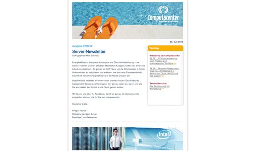 FRESH INFO ++ Computacenter-Server-Newsletter