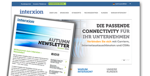 FRESH INFO +++ Interxion E-Mail-Newsletter