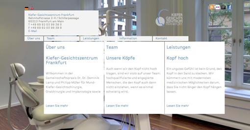 Launch des Netzauftritts  vom Kiefer-Gesichtszentrum Frankfurt