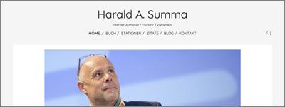 FRESH INFO +++ Redaktionelle Unterstützung für Harald A. Summa