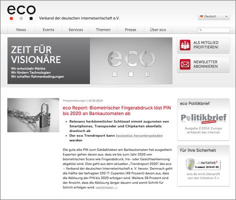 Referenz: Texte für und Newsletter eco e.V.