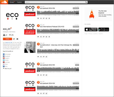 Referenz: eco podcast