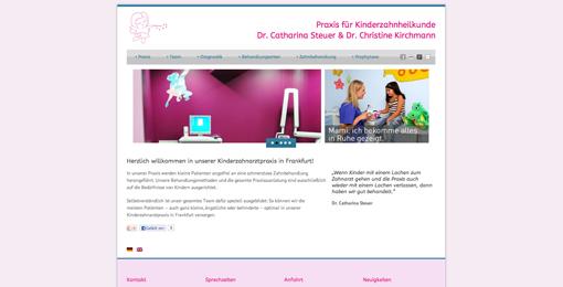 FRESH INFO +++ neue Webseite kinderzahnaerzte-frankfurt.com