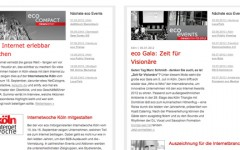 FRESH INFO +++ Referenz eco newsletter